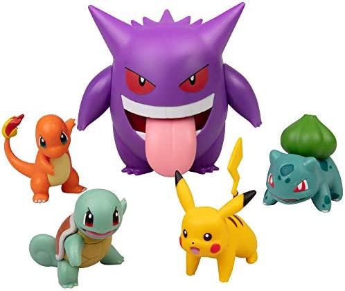 Pok mon Figure Multi Pack Set with Deluxe Action Gengar Generation 1 Includes Pikachu Squirtle product image