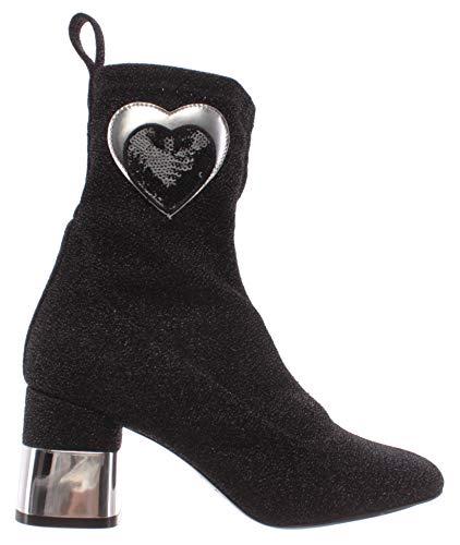 Chaussures Femmes Bottines LOVE MOSCHINO JA24057 Talon 70 Lurex Stretch Noir