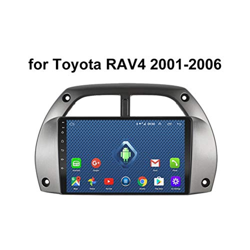 HP CAMP Android 9.0 Car Radio para Toyota RAV4 2001-2006, Car Stereo GPS Navigation Soporte BT/Mirror Link/USB/SWC/Cámara Trasera/FM/Google Map/Multi-Lingual
