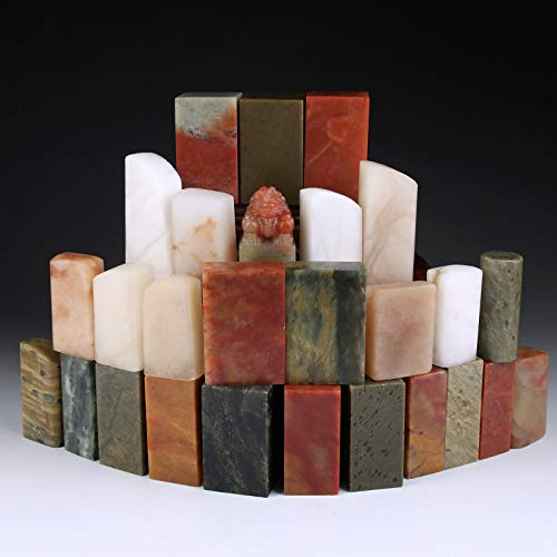 27 pcs/Set Stone Seal Set Chinese Name Stamp Stone Seal Letter Sealing Blank Stamp for Painting...