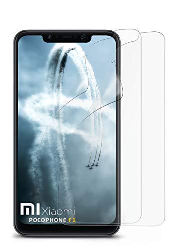 MoEx® Anti Reflex Displayschutzfolie passend für Xiaomi Pocophone F1 | Schutzfolie Matt Display Folie gegen Reflexionen, flexibel, 2X Stück