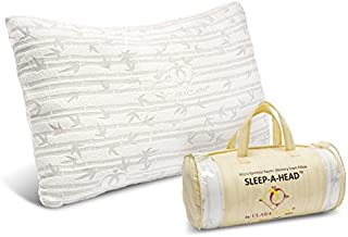 Clara Clark Shredded Memory Foam Pillow with a Luxury Designed Rayon Made from Satins Cover (Set of 2), King
