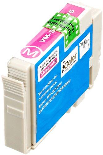 iColor kompatible Tintenpatronen für Tintenstrahldrucker, Epson: Patrone für Epson (ersetzt T1631 T1632 T1633 T1634 / 16XL), Magenta