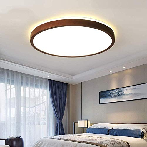 Plafón LED redondo, 18 W, lámpara ultrafina, 5,8 cm, con mando a distancia, pantalla acrílica, iluminación hacia arriba y hacia abajo, 360 °, lámpara de dormitorio, 30 cm
