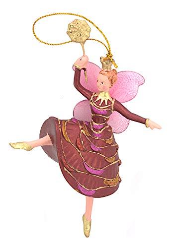 para Bailarina Bailarinas de Marfil Decoración de Navidad árbol de Navidad Rojo de Oro 15cm
