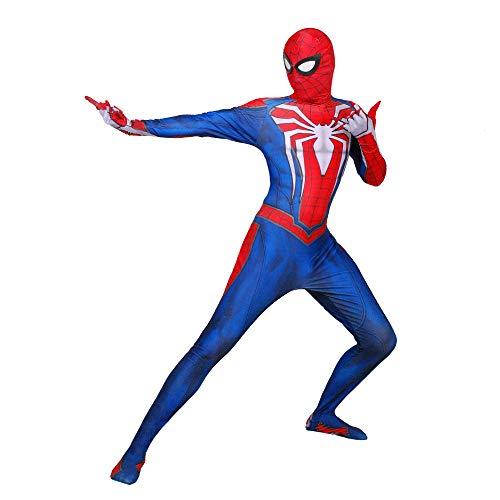 WOLJW Child Spider Man Superhero Spiderman Ps4 Velocity Spiderman Kostuum Cosplay Zentai volwassen masker pak Kid Spandex Performance Show
