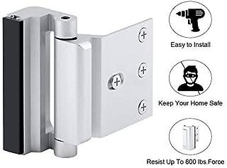 Home Security Door Lock with 8 Screws, Childproof Door Reinforcement Lock with 3