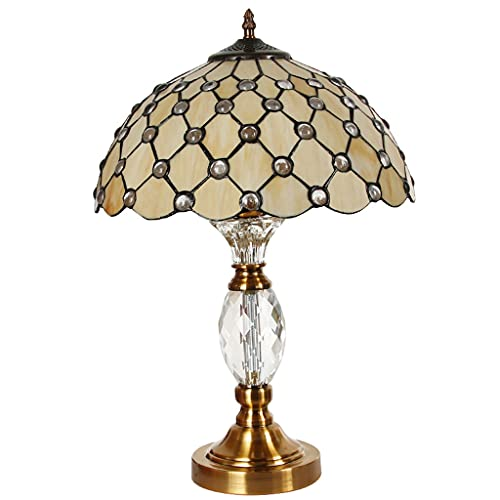 Lampara Mesilla Lámpara de mesa de cristal estilo europeo dormitorio de lujo lámpara de noche sala de estar sala de estar comedor cristal vidrio decorativo iluminación lámpara de mesa Lámpara de mesa