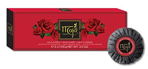 Maja Seife Classic - Hochwertiges Seifenset in verführerisch, sinnlichem Duft - edel verpackte Handseife in qualitativer Geschenkbox - Geschenkidee - 1er Pack (3x 100g)