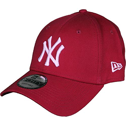 New Era 9forty MLB New York Yankees Leag Esnl Kappe, rot/Weiß, One Size