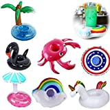 Yojoloin 7PCS Inflable Pool Float Drink Cup Holder, Posavasos inflables para la Piscina y Juguetes...