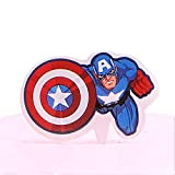 Cupcake Toppers 50PCS - Birthday Party Cupcake Decoration Cake Topper Captain America Marvel Superhero Avengers Theme Party Decoration Supplies for Boys Baby Showers Teens Kids Men Adults