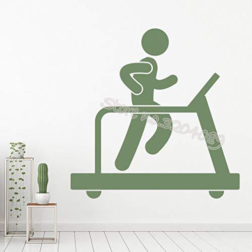 Gym fitness loopband sport muursticker sport fitness club woondecoratie woonkamer sticker verwijderbare zelfklevende kunst muurschildering 84x84cm