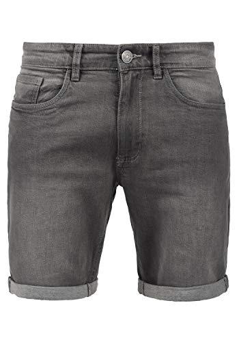 Blend Joel Herren Jeans Shorts Kurze Denim Hose mit leichtem Stretchanteil, Größe:S, Farbe:Denim Grey (76205)