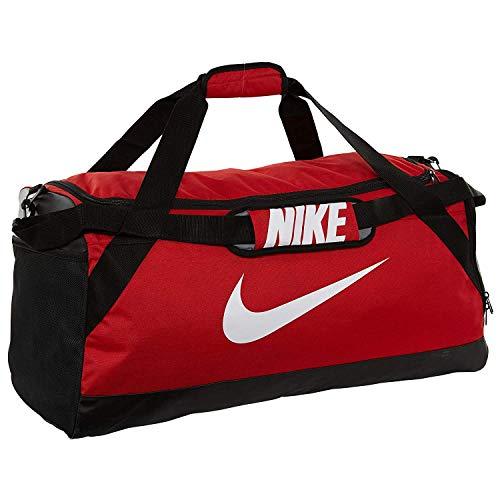 Nike Brsla M Duff, Borsa da Viaggio Uomo, Nero/Nero/Bianco, Taglia Unica