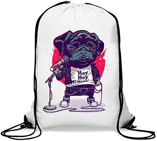 Hey Hey Mama Stand Up Comedian Pug Gym Sack Casual Drawstring Bag