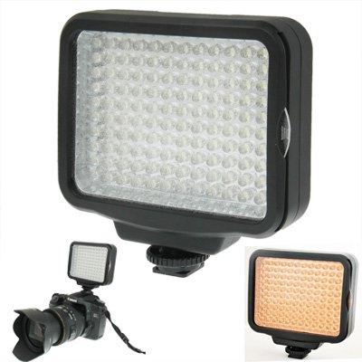 LED-videolamp LED 5009, 120 LED's, met zachte bladeren en gele filters, accu 7,4 V, 4400 mAh / 750 Li-Ion voor camcorder/camcorder Sony NP-F770 fotografie licht