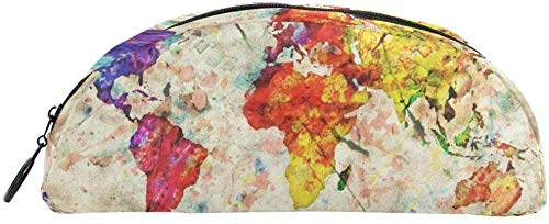 Geldbörse Weltkarte Bleistift Fall Beutel Tasche Briefpapier Bleistift Fall Kosmetiktasche für Teenager Jungen und Mädchen