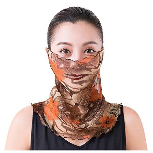 Zilosconcy Schlauchschal Damen Multifunktionstuch Bandana Mundschutz Sommer Atmungsaktiv Schal Sonnenschutz Outdoor UV-Schutz Laufen Radfahren Motorrad B