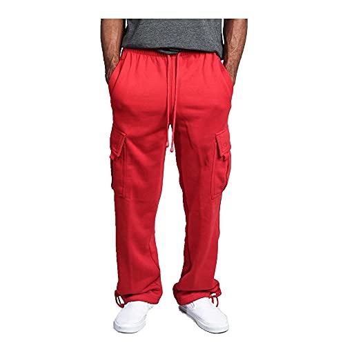 N\P Pantalones de deporte sueltos de color sólido pantalones de la pista pantalones casuales pantalones deportivos