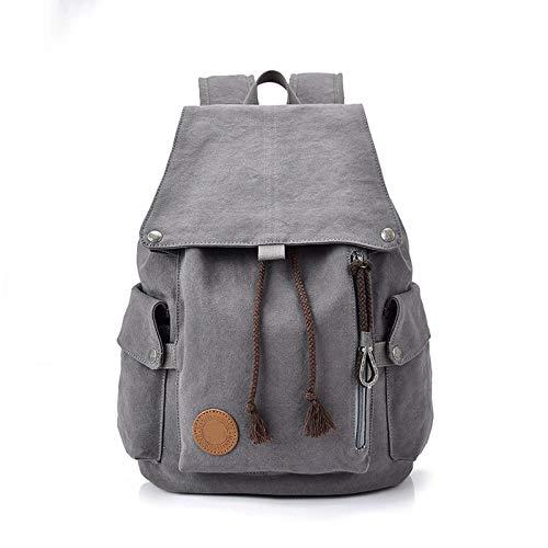 Student Schoolbag Wearresistant Canvas Backpack Waterproof Outdoor Business Travel Campus Backpack Laptop Bag College Students