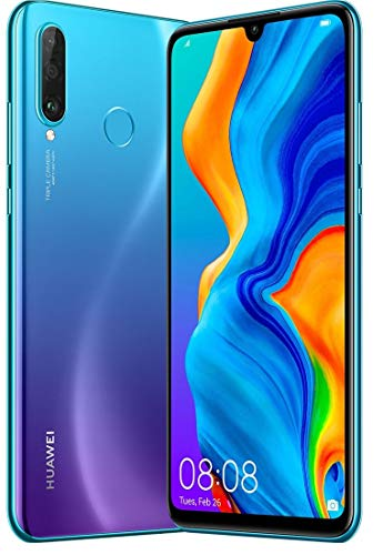Huawei P30 Lite 128GB Hybrid Dual Sim Unlocked GSM Phone w/Triple (24 MP + 8 MP + 2 MP) Camera - Peacock Blue