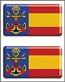 Artimagen Pegatina rectángulos Infantería de Marina 2 uds. Resina 48x26 mm/ud.
