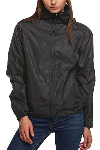 New fashion Waterproof Climbing Running Outdoor Hoodie Coat Sport Cycling Jacket Black Medium