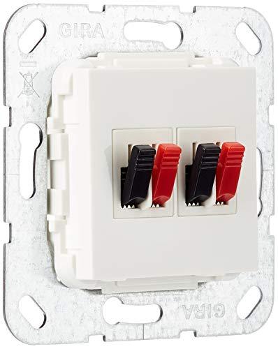 Gira 569303 Lautsprecher Anschluss 2-fach Einsatz, reinweiß