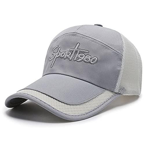Gorra de béisbol Ajustable para Exteriores, Letras de Moda, Sombreros para Hombres, Sombrero de Visera de Verano, Gorras Deportivas de Golf para Pesca-Grey