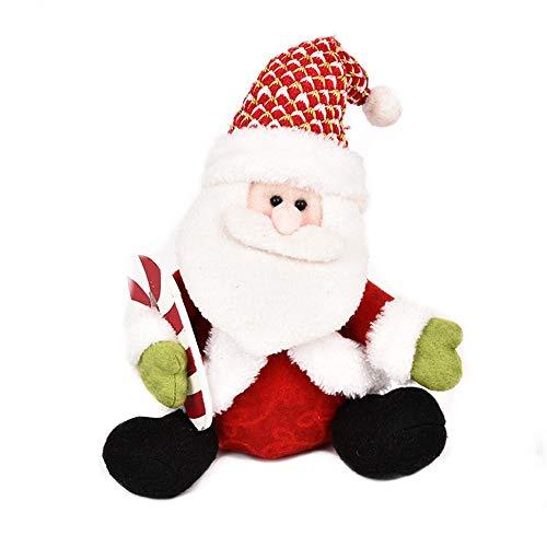 NaiCasy Weihnachten Weihnachtsmann Plüsch Spielzeug sitzen Puppe Ornamente Weihnachten Home Party Tischdekoration