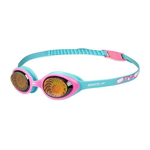 Speedo Illusion Junior Gafas de natación, Mujer, Azul Bali/Rosa Vegas/Nautilus Hologram, One Size