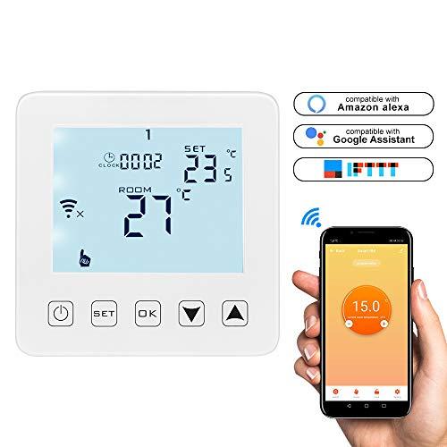Konesky ifi Smart thermostaat digitale elektrische verwarming thermostaat app-besturing programmeerbare temperatuurregelaar werken met Alexa Google Home