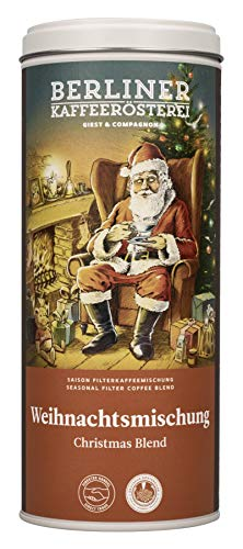 BKR | Geschenk für Kaffeeliebhaber | Weihnachtsmischung | Kaffee mit Dose | gemahlen | 125g