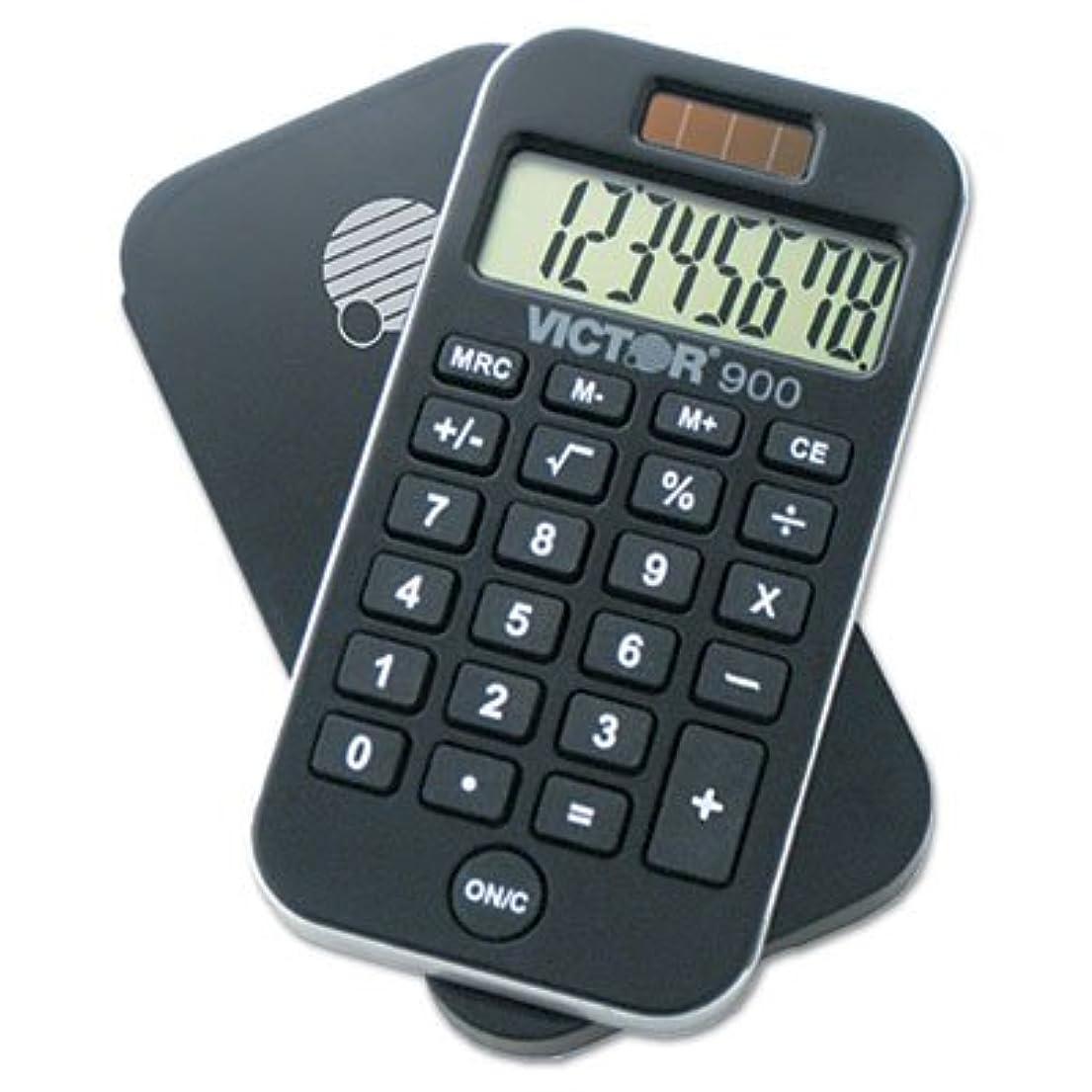 オレンジ余剰首尾一貫した900抗菌ポケット電卓、8桁LCD、合計60?ea , Sold as 1カートン