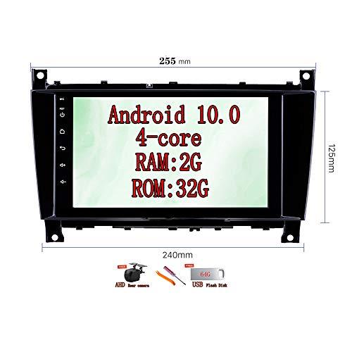 XISEDO 8 Pulgadas Android 10.0 Autoradio Car Radio RAM 2G ROM 32G In Dash Radio de Coche para Mercedes-Benz CLK W209 2006-2012/CLS W219 2004-2008 (255)