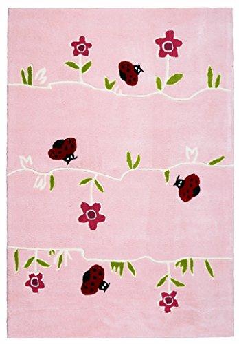Livone Kinderteppich Happy Rugs BLUMENWIESE rosa 120x180cm