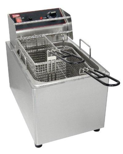 Grindmaster-Cecilware EL15 Countertop 2-Basket Electric Fryer, 15-Pound