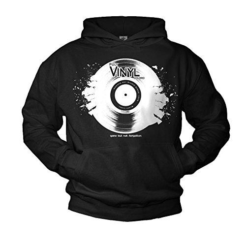 Makaya Sweat à Capuche Vintage Record Noir Homme L