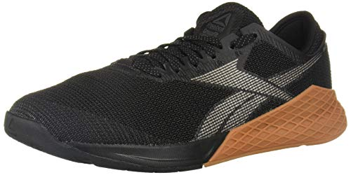 Reebok Men's Nano 9 Cross Trainer, Black/Grey, 7.5 M US