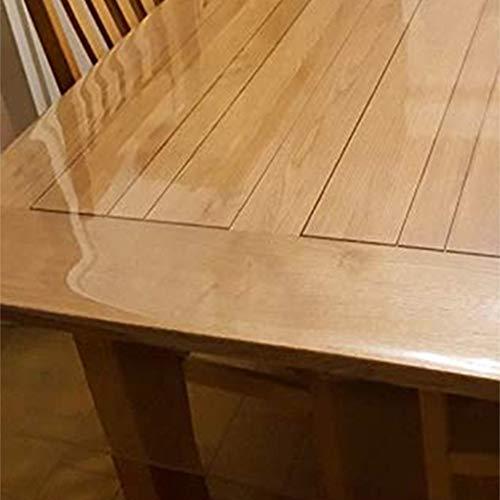 WLF-didian PVC transparente Tischdecke, Schreibtischdekoration Vinyl Tischdecke, geeignet für Esstisch, Couchtisch, Schreibtisch, 10 Größen,1.3mm,65 * 120cm