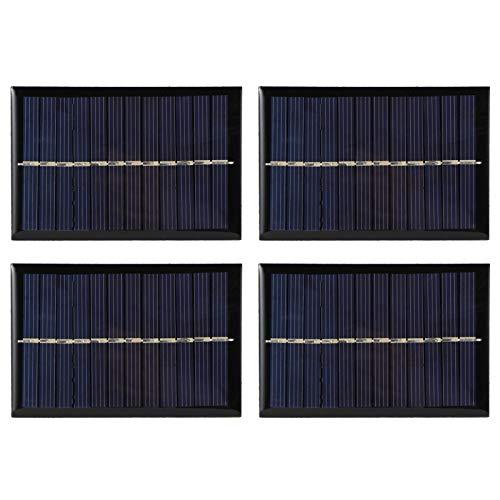 4 Piezas 0,6 W 6 V Mini módulo de Panel Solar de silicio policristalino células solares fotovoltaicas Cargador de batería para Acampar al Aire Libre Piezas de Bricolaje