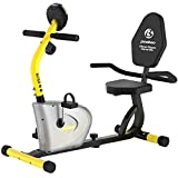 Pooboo Recumbent Exercise Bike Stationary for Seniors, Indoor Cycling Magnetic Bike for Home Workout, Quiet&Stable Bike for Exercise with Monitor, Phone Holder, Adjustable Seat&Resistance, Great Gift Idea for Parents!