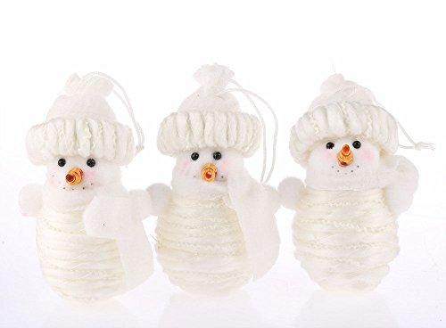 CraftbuddyUS One Handmade Snowman Christmas Xmas Tree Decorations, Ornament Figurine Fabric Gift