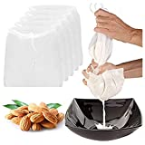 5 Pcs Pro Quality Nut Milk Bag, LERORO 10' x 12' Reusable Fine Mesh Nylon Filter Strainer All Purpose Food Strainer for Almond, Soy Milk,Badam, Nut, Cashew, Walnut Milk, Juice and Cold Brew Coffee