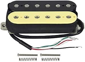 FLEOR Electric Guitar Humbucker Pickups Bridge Alnico 5 Pickup (Cream+Black)