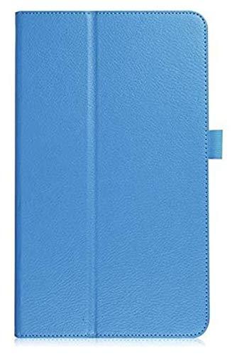 Accesorios De Pestañas para Samsung Galaxy Tab a 10.1 2016 T580 T585 SM-T580, Cubierta Plegable De Cuero Flip Funda para La Pestaña Galaxy a 10.1 (Color : Blue)