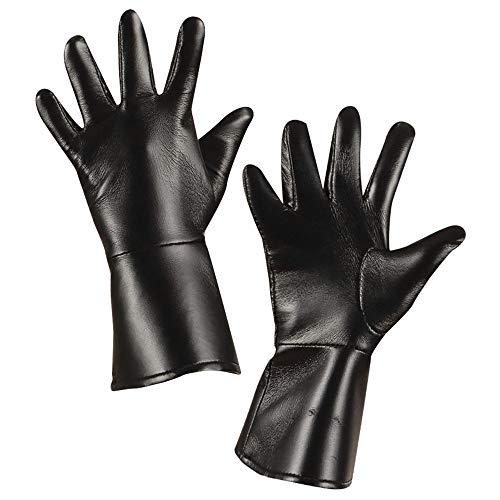 Widmann 8533B Handschuhe für mehrere Charaktere in Lederoptik, Schwarz, Einheitsgröße