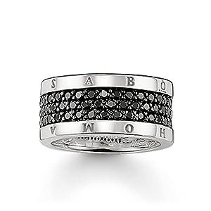 Thomas Sabo Herren-Ring Glam und Soul Eternity 925 Silber Zirkonia schwarz Gr. 60 (19.1) - TR1710-051-11-60