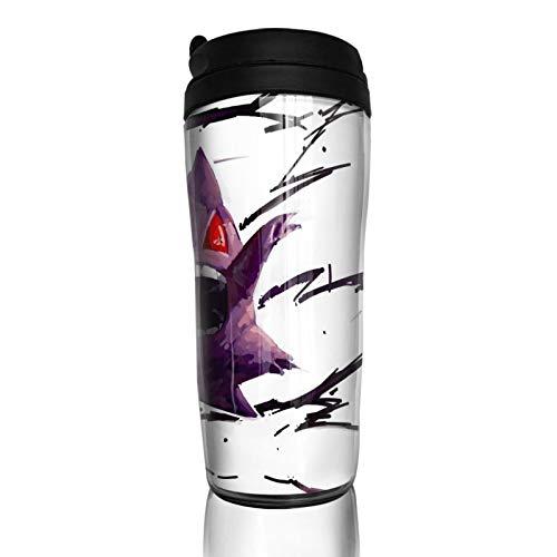 Gengar - Taza de café con aislamiento térmico duradero y protección del medio ambiente con funda reutilizable de doble capa antiquemaduras, funda multiusos portátil antideslizante